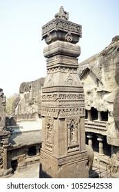 Ellora cave stone craving of Hindu history