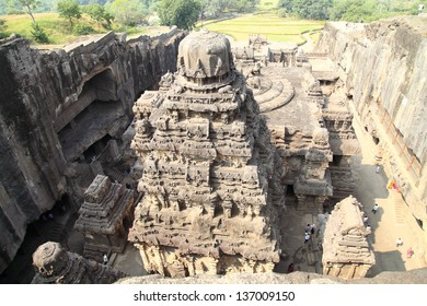 Ellora cave style of Hindu worship place