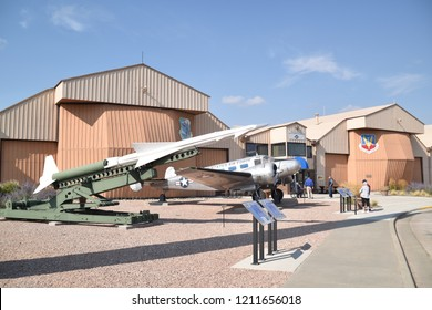 Ellsworth AFB, SD 57706. U.S.A. Sept. 14, 2018. South Dakota Air & Space Museum.  From World War II exhibits to modern-day B-1B Lancer strategic bomber, there is something for all ages.  Plaques, too.