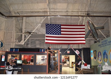 Ellsworth AFB, SD 57706. U.S.A. Sept. 14, 2018. South Dakota Air & Space Museum.  From World War II exhibits to modern-day B-1B Lancer strategic bomber, there is something for all ages.