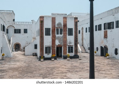 Elmina / Ghana - 03.14.2015: A photo of the courtyard of the old slave castle in Elmina.