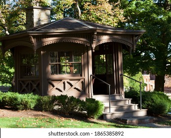 Elmira,NY USA-Sept 24,2013: Mark Twain Study - where Mark Twain wrote some of his most famous works. Structure moved for preservation in 1952 from his sister-in-law's farm in Elmira to Elmira College.