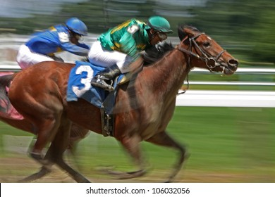 "ELMONT, NY - JUN 23: Rajiv Maragh and ""Special Guest"" (#3) finish in third place in a maiden race at Belmont Park on Jun 23, 2012 in Elmont, NY."