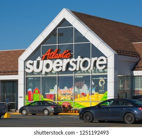 Elmsdale, Canada - October 06, 2016: Atlantic Superstore retail outlet. Atlantic Superstore is a Canadian chain of supermarkets operating as a division of Loblaws.