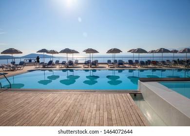 Elounda, Crete/Greece. — 01 July 2015. Hotel Elounda Ilion.
