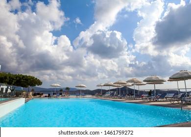 Elounda, Crete/Greece. — 28 July 2015. Hotel Elounda Ilion.