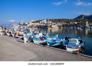 Elounda village, Crete/Greece. - 01 July 2015. Elounda is a small fishing town on the northern coast of the island of Crete, Greece.