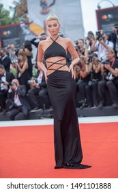 Elsa Hosk walks the red carpet ahead of the Opening Ceremony  during the 76th Venice Film Festival at Sala Grande on August 28, 2019 in Venice, Italy.