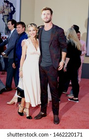 Elsa Pataky and Chris Hemsworth at the Los Angeles premiere of 'Once Upon a Time In Hollywood' held at the TCL Chinese Theatre IMAX in Hollywood, USA on July 22, 2019.