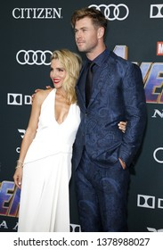 Elsa Pataky and Chris Hemsworth at the World premiere of 'Avengers: Endgame' held at the LA Convention Center in Los Angeles, USA on April 22, 2019.