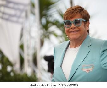 "Elton John attends the photocall for ""Rocketman"" during the 72nd annual Cannes Film Festival on May 16, 2019 in Cannes, France."
