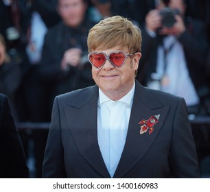"Elton John attends the screening of ""Rocketman"" during the 72nd annual Cannes Film Festival on May 16, 2019 in Cannes, France."