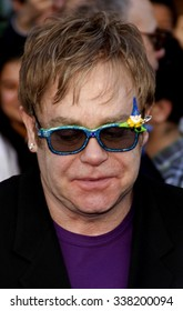 """Elton John at the Los Angeles Premiere of """"Gnomeo & Juliet"""" held at the El Capitan Theater in Hollywood, California, United States on January 23, 2010."""