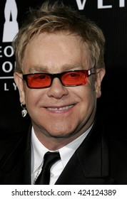 Elton John at the Rodeo Drive Walk Of Style Award honoring Gianni and Donatella Versace held at the Beverly Hills City Hall in Beverly Hills, USA on February 8, 2007.