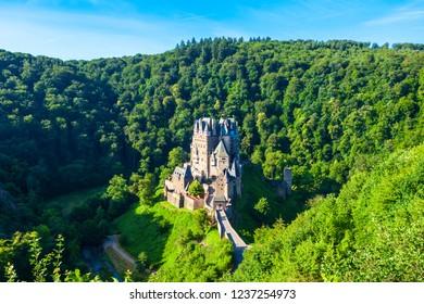 Eltz Castle or Burg Eltz is a medieval castle in the hills above the Moselle River near Koblenz in Germany