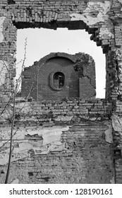 Eltz castle ruins, detail. Vukovar, Croatia.