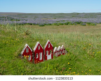 Elves houses in Iceland where the Huldufólk live. Near the strandarkirkja.