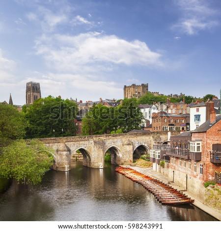 Elvet Bridge River Wear Durham City Stock Photo Edit Now 598243991