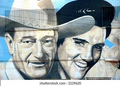 Elvis and the Duke on the wall