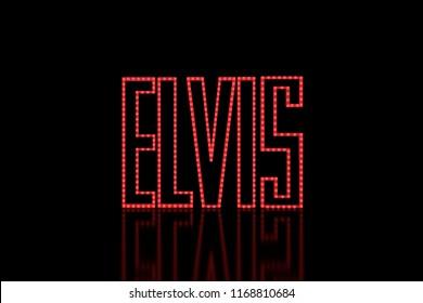 Elvis LED Text