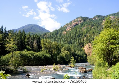Elwha River in the Olympic National Park near Port Angeles, Washington. This river has two dams on it that are scheduled to be removed in 2011.