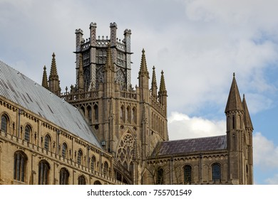 ELY, CAMBRIDGESHIRE/UK - NOVEMBER 22 : Exterior view of Ely Cathedral in Ely on November 22, 2012