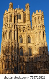 ELY, CAMBRIDGESHIRE/UK - NOVEMBER 23 : Exterior view of Ely Cathedral in Ely on November 23, 2012