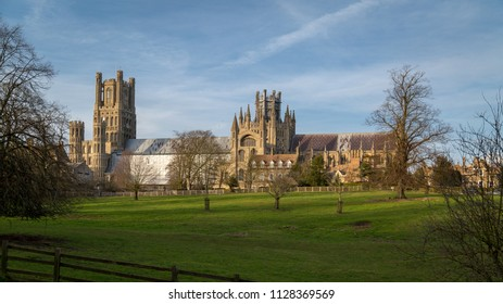 Ely, UK - 16th February 2018: A view of the historic Ely Cathedral