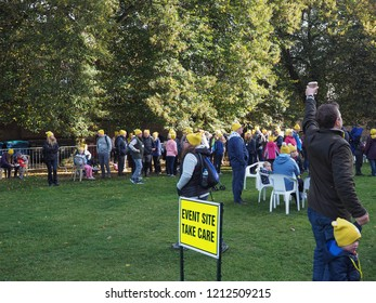 ELY, UK - CIRCA OCTOBER 2018: BBC Countryfile for Children in Need ramble