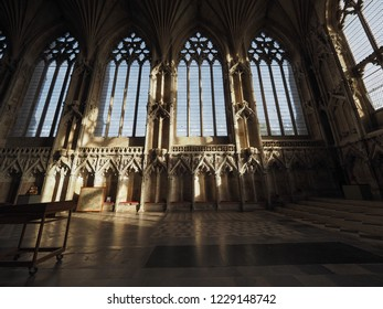 ELY, UK - CIRCA OCTOBER 2018: Lady Chapel at Ely Cathedral