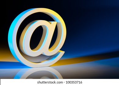 the e-mail characters. modern communication on the internet.