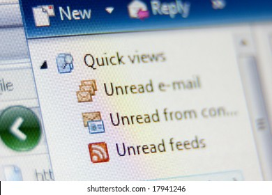 E-mail client close-up