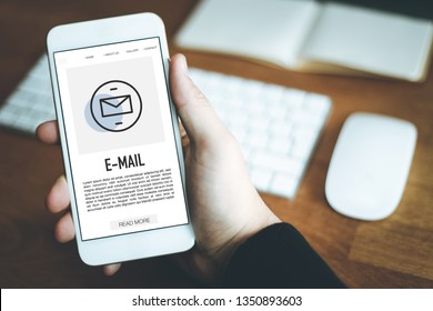 E-MAIL CONCEPT ON SCREEN