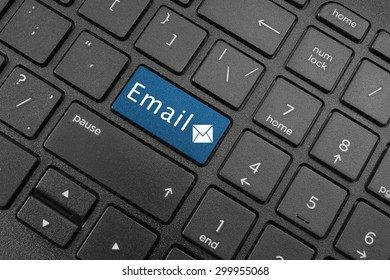 Email concepts, email button on computer keyboard