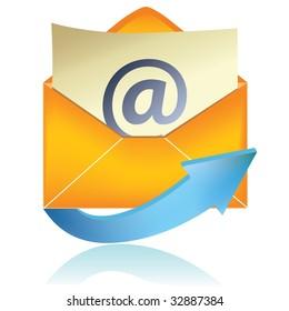 E-mail icon, orange #1