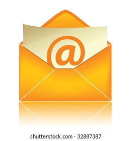 E-mail icon, orange #2