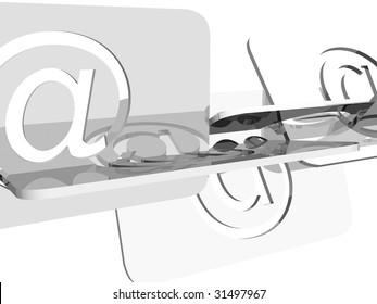 Email symbol?s illustration over white background