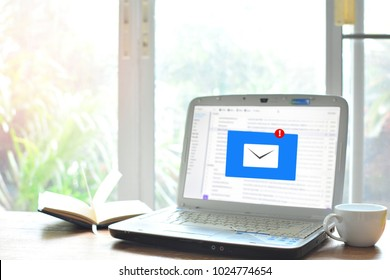 email inbox for concept communication and technology