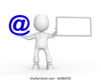 Email information. 3d image isolated on white background.