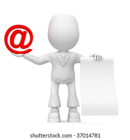 email information is written On slip of paper