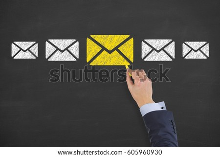 Email Marketing Newsletter Bulk Mail Concepts Stock Photo (Edit Now