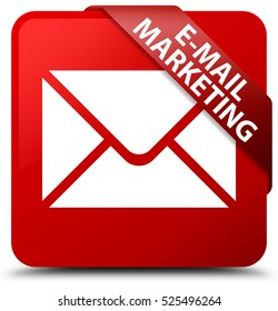 E-mail marketing red square button
