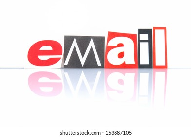 Email with newspaper letters