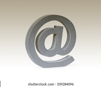 e-mail sign, symbol,  modern communication on the internet.