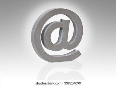 e-mail sign, symbol,  modern communication on the internet.