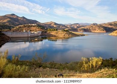 Embalse de Limonero, reservoir, Malaga, Andalucia, Spain.