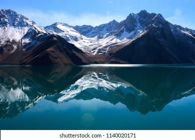 Embalse el Yeso is a dam located in Chile's dristict Cajon del Maipo.