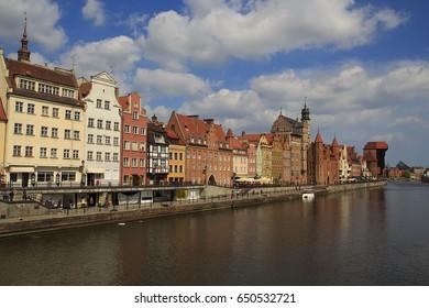 Embankment of Gdansk. Poland