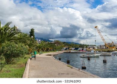Embankment near Tivat, Montenegro.