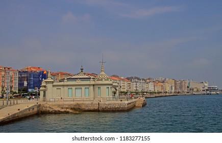 embankment promenade in the capital city of Cantabria region Santander